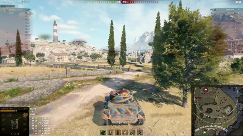 Kua1102 TV World of Tanks Учимся стрелять на ЛТ зрители 9 фрагов и 3000 урона на T71 DA патч 1 0 2 3 24