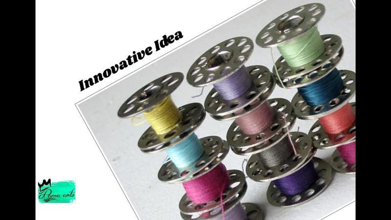 Innovative idea with bobbins simple DIY idea