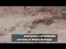 Nuevos lahares ponen en riesgo a comunidades cercanas al Volcán de Fuego