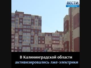 В Калининградской области активизировались лже-электрики
