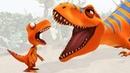 Мультик и развивающее видео про динозавров. Зубы Тираннозавра