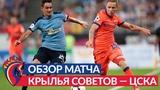 Обзор матча: Крылья Советов — ПФК ЦСКА — 0:0