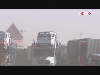 1804 Китай. Песчаная буря. Синьцзян-Уйгурский автономный район. 25 сентября 2018.