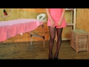 Black high heels and pink skirts perfect look in sweet pink