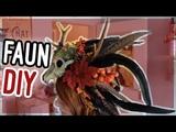 DIY Voodoo Faun Kopfschmuck Halloween Tutorial I Kupferfuchs Bastelstube
