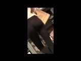 Tall Skinny teen in leggings (Short video)