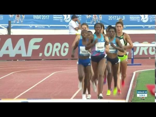 Womens 3000m Steeplechase Diamond League Rabat 2017 English Commentary