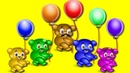 Gummy Bear Learn Color Balloon Finger Family❤️💙💚Childrens cartoons