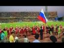 Выступление Кубанского Казачьего хора перед футбольным матчем 'Кубани'