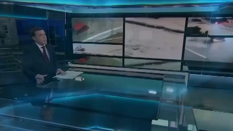 В России, в Краснодарском крае масштабное наводнение.In Russia, large-scale flooding