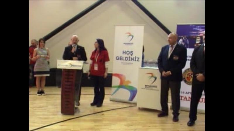 Open ceremony international seminar WJJF Turkey with the President WJJF Kancho Robert Hart
