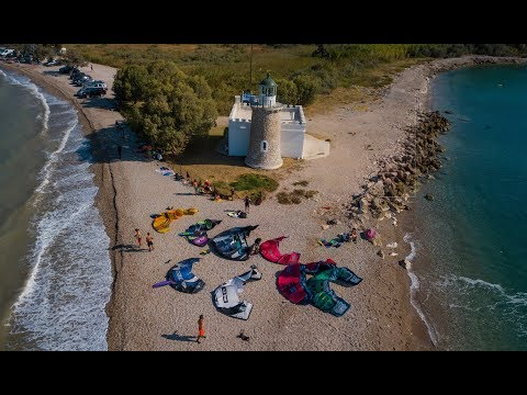 Kiteboarding in Drepano, Greece