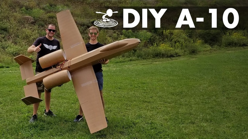 Flying 8-Foot A-10 Warthog made from Dollar Store Foamboard
