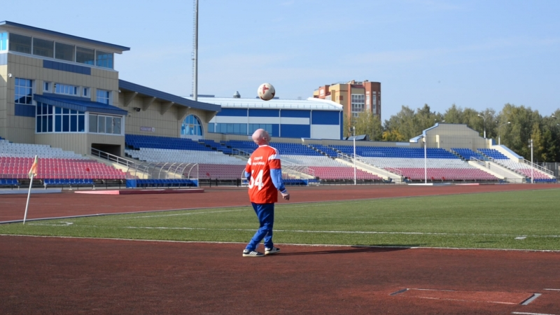 Сергей Броницкий на тренировке