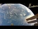 Action Cam Footage From October 2017 Spacewalk \ Вид на землю из открытого космоса