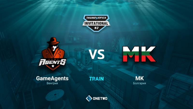 Thunderpick Invitational 2 | GameAgents vs MK | BO3 | de_train | by Afor1zm
