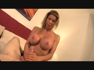 Alexis fawx — my step mom made me jerk off [2018 г., incest, pov, milf, handjob, big tits, blonde, 720p]