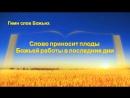 Церковь Всемогущего Бога Христианские песни «Слово приносит плоды Божьей работы в последние дни» сила Божьих слов