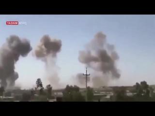Iranian missiles hits heaquarters of militants dpki and kdpi in iraqi kurdistan