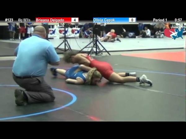 WM 63 KG - RR2 - Brieana Delgado (Gator) vs. Olivia Cepak (MI)