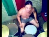 Как должен играть ТРУ-барабанщик в стиле порно-грайнд кор :)