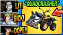 STREAMERS *FIRST TIME* USING *NEW* QUADCRASHER VEHICLE! (INSANE!) Fortnite FUNNY Moments
