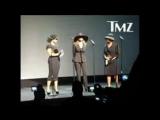 Jackson sisters speak to fans across staples center