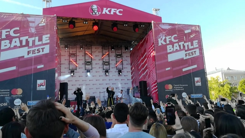 Клава Кока - Нету времени. KFC Battle Fest (12.06.2018, Уфа)