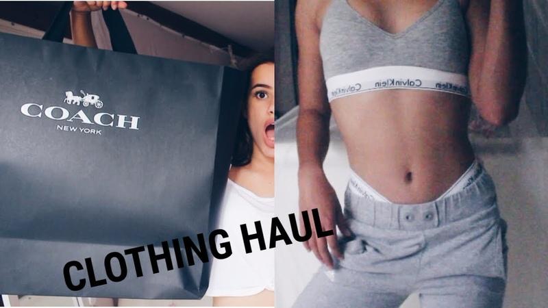 HUGE Try-On Clothing Haul-PINK Victoria Secret, Calvin Klein, Buying a designer item at 14