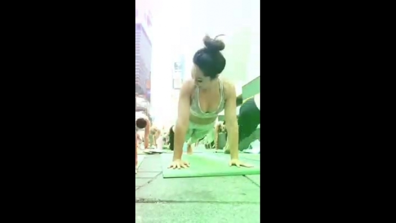 Blogilates - Did some vinyasa yoga in the middle of Times...