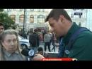 Российская пенсионерка ворвалась в прямой эфир бразильского телеканала (Канал ДОЖДЬ)