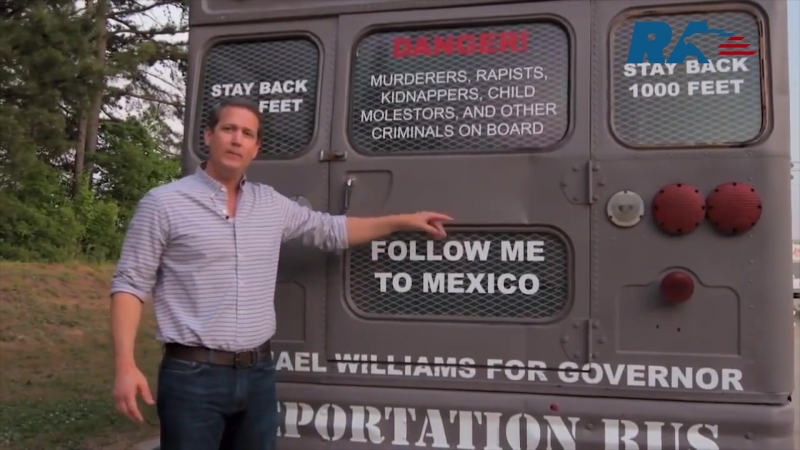Candidate to the governors of Georgia went to the pre-election tour on the deportation bus