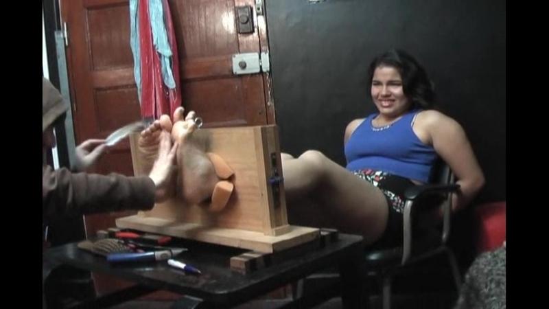 Cecilia tickled in the stocks