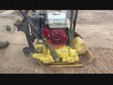 Техника для трамбовки песчано-гравийной подушки под фундамент в д.Угрюмово. Центр домостроения