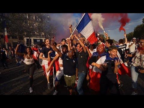 Célébration de la victoire de la France en coupe du monde de football