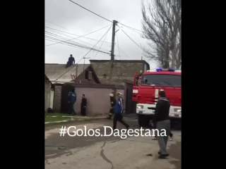 Еще один пожар сегодня сгорел дом в первухе по ул. Джамала Долгата. В доме жили квартиранты, все утром ушли кто на работу, кто