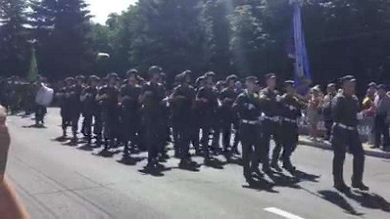 Мариуполь, Украина. Парад нацистов