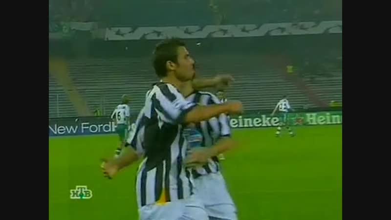 88 CL 2005 2006 Juventus Rapid Wien 3 0 27 09 2005 HL