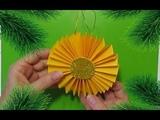 Как сделать Новогодние Ёлочные игрушки На Ёлку своими руками/новогодний декор из бумаги/поделки