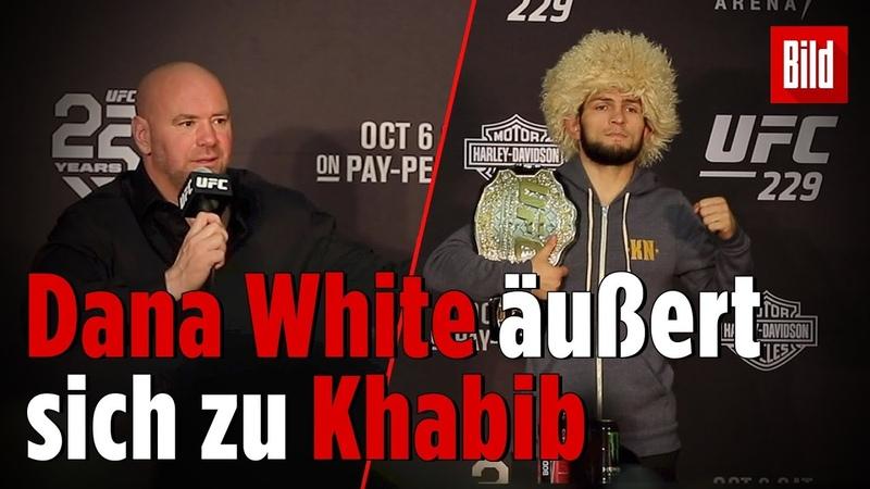 »Khabib ist in großen Schwierigkeiten | UFC-Präsident über den Skandal-Nacht