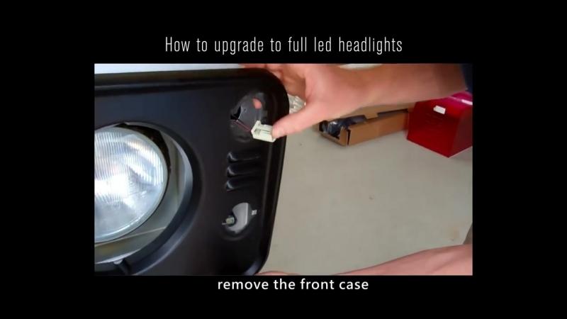 Sirius NS-2241 LED Headlight 7 inch Black Reflector for Car - KiWAV