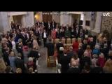 Крестины Принца Габриэля Королевская семья прибывает в часовню