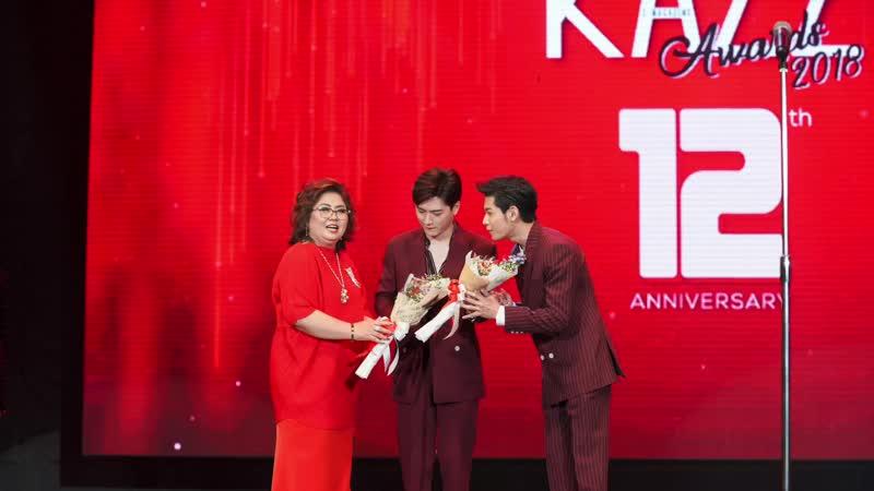Kazz Awards 2018 คู่จิ้นแห่งปี สิงโต ปราชญา และ คริส พีรวัส