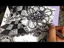 Zendoodle drawing | วาดภาพลายเส้น | Thumbelibell Yelps