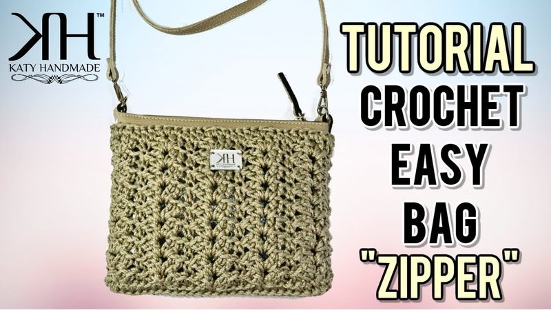 TUTORIAL POCHETTE UNCINETTO Zipper - PUNTO FANTASIA ● Katy Handmade