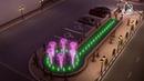 Music fountain animation Russia Ufa/Анимация музыкального фонтана в Уфе