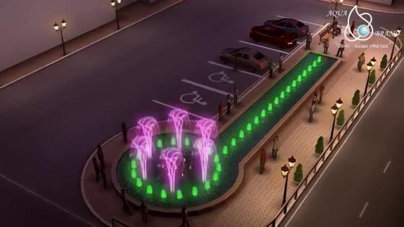 Music fountain animation Russia UfaАнимация музыкального фонтана в Уфе