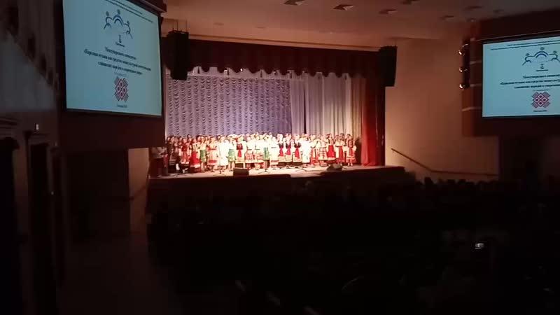 Сводный народный хор БГИИК. Международный симпозиум 8-9 ноября 2018.Пролог- Мы вместе