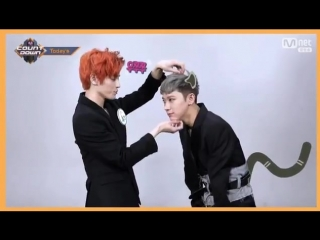 180301 NCT U TxT 'Baby Don't Stop' comeback on Mcountdown - Taeyong & Ten