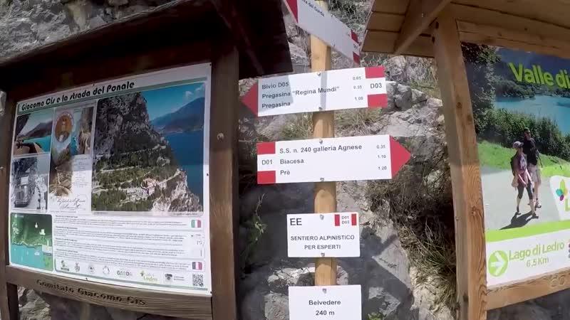 In bici da Arco a Riva del Garda ed escursione sulla vecchia strada del Ponale